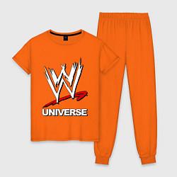 Пижама хлопковая женская WWE universe цвета оранжевый — фото 1