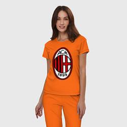 Пижама хлопковая женская Milan ACM цвета оранжевый — фото 2