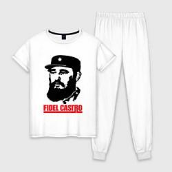 Пижама хлопковая женская Fidel Castro цвета белый — фото 1