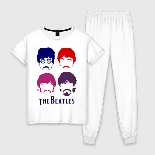 Женская пижама The Beatles faces / Белый – фото 1