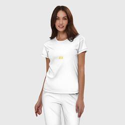 Пижама хлопковая женская Brazzers: Sexy Style цвета белый — фото 2