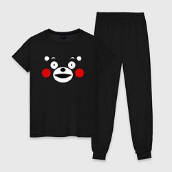 Пижама хлопковая женская Kumamon Face цвета черный — фото 1