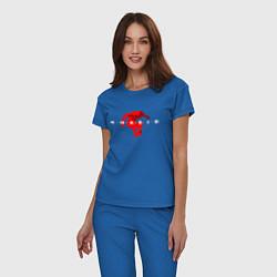 Пижама хлопковая женская Red Khabib цвета синий — фото 2
