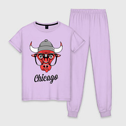 Пижама хлопковая женская Chicago SWAG цвета лаванда — фото 1