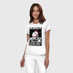 Пижама хлопковая женская Убийца гоблинов 9 цвета белый — фото 2