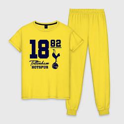 Пижама хлопковая женская FC Tottenham 1882 цвета желтый — фото 1