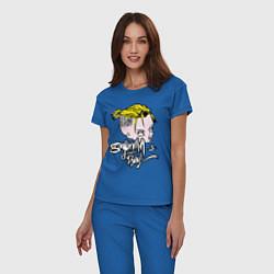 Пижама хлопковая женская Sayonara Boy цвета синий — фото 2