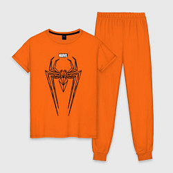 Пижама хлопковая женская Black Spider-Man цвета оранжевый — фото 1