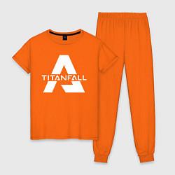 Пижама хлопковая женская Apex Legends x Titanfall цвета оранжевый — фото 1