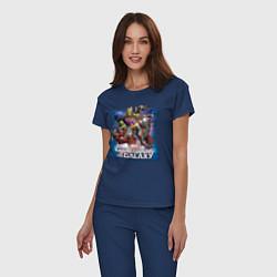 Пижама хлопковая женская Guardians of the Galaxy цвета тёмно-синий — фото 2