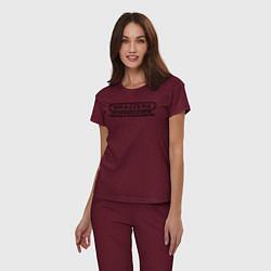 Пижама хлопковая женская Brazzers организация кастингов помощь в трудоустро цвета меланж-бордовый — фото 2