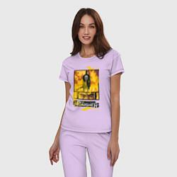 Пижама хлопковая женская The Punisher цвета лаванда — фото 2