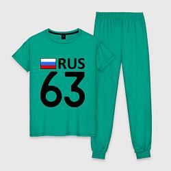 Пижама хлопковая женская RUS 63 цвета зеленый — фото 1