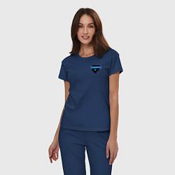 Пижама хлопковая женская Староста факультета Рэйвенкло цвета тёмно-синий — фото 2