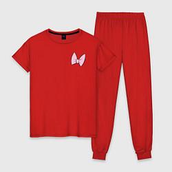Пижама хлопковая женская Team Webby цвета красный — фото 1