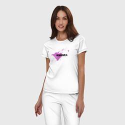 Пижама хлопковая женская Любимка цвета белый — фото 2