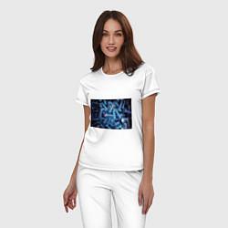Пижама хлопковая женская Механик цвета белый — фото 2