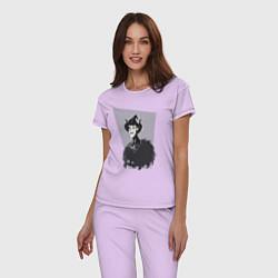 Пижама хлопковая женская Dont Starve цвета лаванда — фото 2
