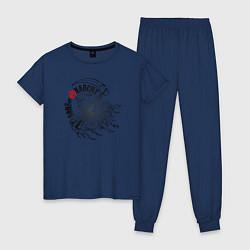 Пижама хлопковая женская Sons of Anarchy цвета тёмно-синий — фото 1