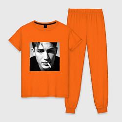 Пижама хлопковая женская ТОМ ХАРДИ цвета оранжевый — фото 1