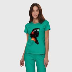 Пижама хлопковая женская Dana цвета зеленый — фото 2