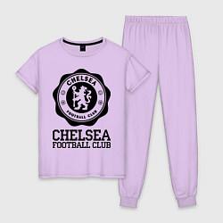 Пижама хлопковая женская Chelsea FC: Emblem цвета лаванда — фото 1