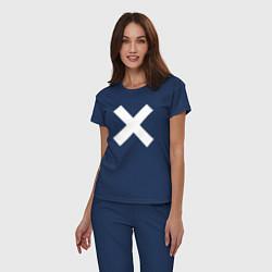Пижама хлопковая женская The XX: Angels цвета тёмно-синий — фото 2