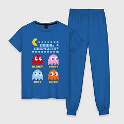 Пижама хлопковая женская Pac-Man: Usual Suspects цвета синий — фото 1
