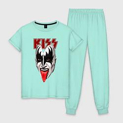 Пижама хлопковая женская Kiss Rage цвета мятный — фото 1
