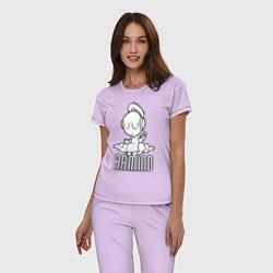 Пижама хлопковая женская Armind цвета лаванда — фото 2