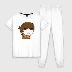 Пижама хлопковая женская George Harrison Boy цвета белый — фото 1