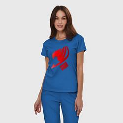 Пижама хлопковая женская Эльза цвета синий — фото 2