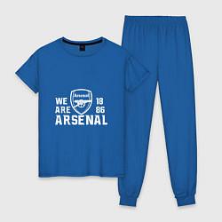 Пижама хлопковая женская We are Arsenal 1886 цвета синий — фото 1