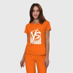 Пижама хлопковая женская Versus Battle цвета оранжевый — фото 2