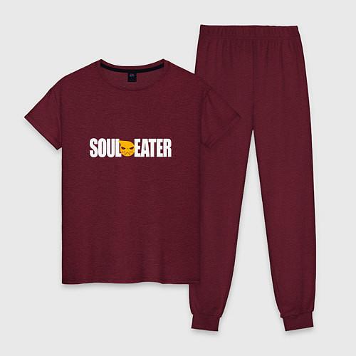 Женская пижама Soul Eater: White / Меланж-бордовый – фото 1