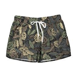 Шорты женские Тропический камуфляж цвета 3D — фото 1