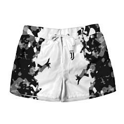 Шорты женские FC Juventus: White Original цвета 3D-принт — фото 1