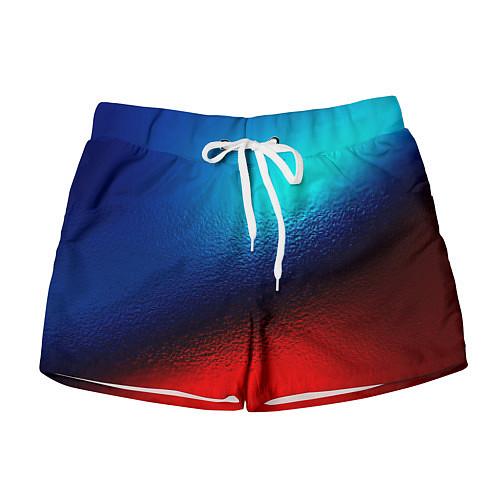 Женские шорты Синий и красный / 3D – фото 1