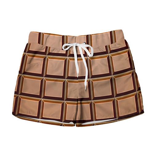 Женские шорты Шоколад / 3D – фото 1