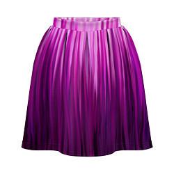 Юбка-солнце 3D женская Фиолетово-черные краски цвета 3D — фото 1