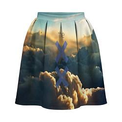 Юбка-солнце 3D женская The XX цвета 3D-принт — фото 1
