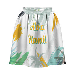 Юбка-солнце 3D женская Aloha Hawaii цвета 3D-принт — фото 1