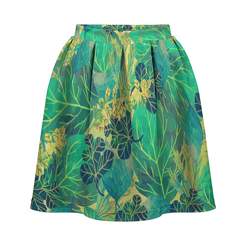Женская юбка Узор из листьев / 3D – фото 1