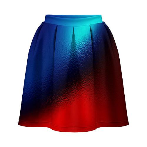 Женская юбка Синий и красный / 3D-принт – фото 1