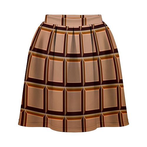 Женская юбка Шоколад / 3D – фото 1