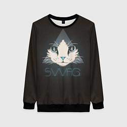 Свитшот женский Cat цвета 3D-черный — фото 1