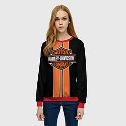 Свитшот женский Harley-Davidson цвета 3D-красный — фото 2