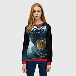 Свитшот женский Mass Effect: Andromeda цвета 3D-красный — фото 2