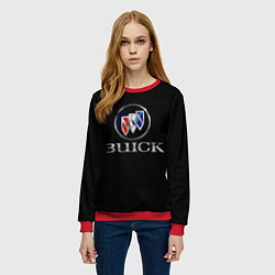 Свитшот женский Buick цвета 3D-красный — фото 2