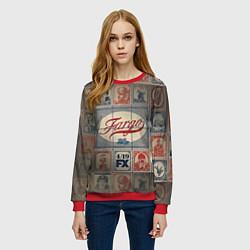 Свитшот женский Fargo brands цвета 3D-красный — фото 2